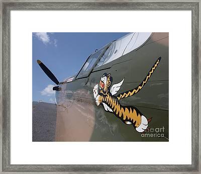 Flying Tiger Noseart Framed Print by Bill Lang