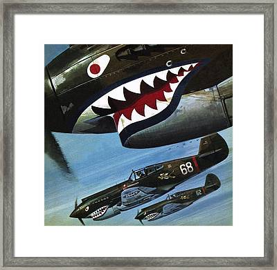 Flying Tigers Over Asia Framed Print