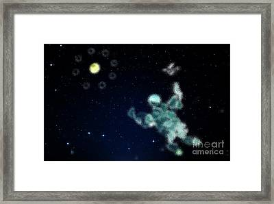Flying To Light Framed Print