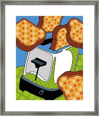 Flying Toast Framed Print by Ron Magnes