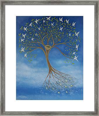 Flying Tree Framed Print