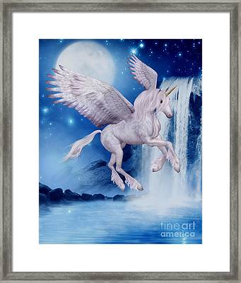 Flying Unicorn Framed Print