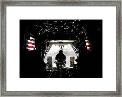 Flying With The Stars And Stripes In Afghanistan Framed Print