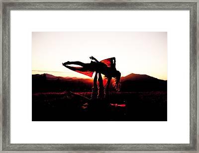 Flying Yoga Framed Print