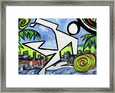 Flyingboyeee Framed Print by Jorge Delara