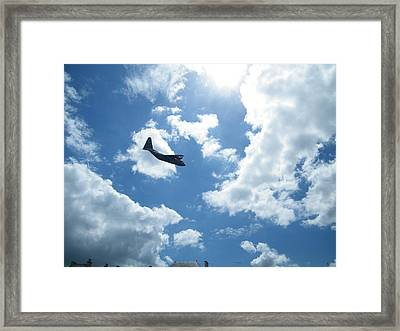 Framed Print featuring the photograph Flypast by JLowPhotos