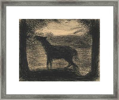 Foal Framed Print by Georges-Pierre Seurat