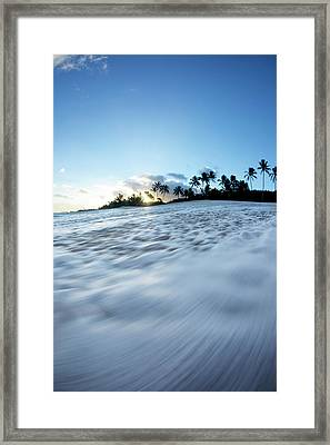 Foam Beach Framed Print