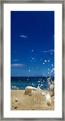 Foam Burst -  Triptych - 1 Of 3 Framed Print