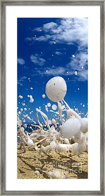 Foam Burst -  Triptych - 2 Of 3 Framed Print