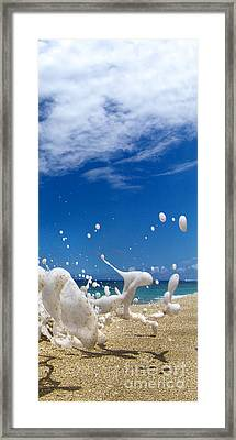Foam Burst -  Triptych - 3 Of 3 Framed Print