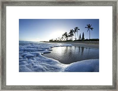 Foam N Palms Framed Print