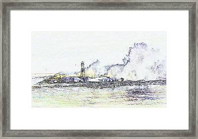 Framed Print featuring the photograph Foamy Sea At The Breakwater by Nareeta Martin