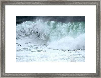 Foamy Wave Crash Framed Print by Adam Jewell