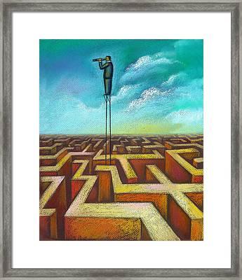 Focal Point Framed Print by Leon Zernitsky