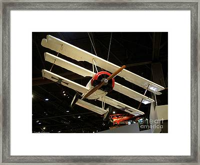 Focker Tri-plane Framed Print by Tommy Anderson