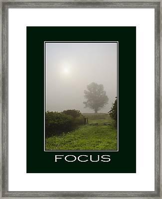Focus Inspirational Poster Art Framed Print by Christina Rollo
