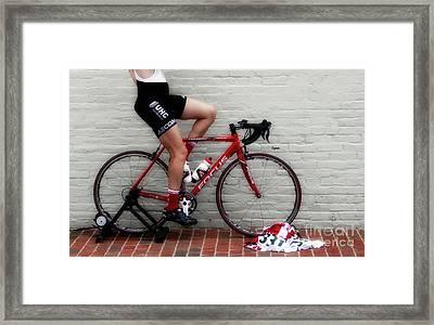Legs On Focus  Framed Print