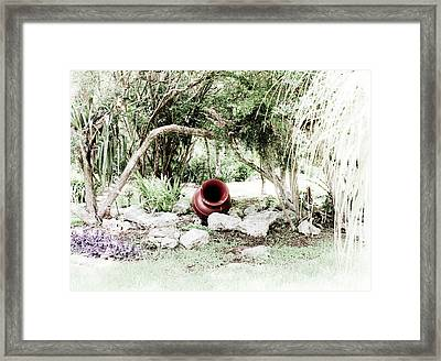Focus On Red Framed Print