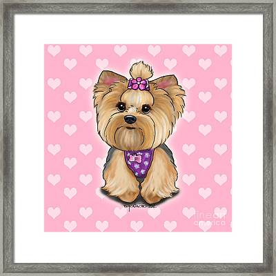 Fofa Hearts Framed Print by Catia Cho