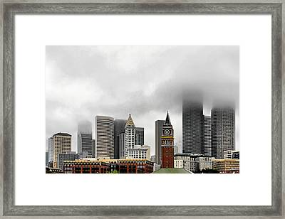 Fog Accents Of Seattle Wa Framed Print by Christine Till