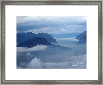 Fog And Clouds Framed Print