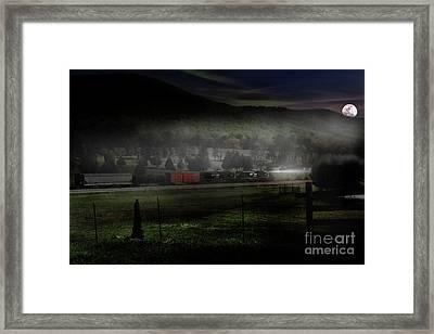 Fog And Steel Framed Print