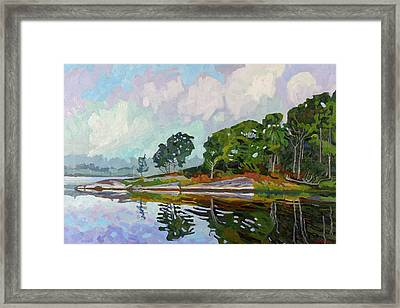 Fog At Point Paradise Framed Print by Phil Chadwick