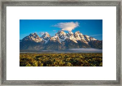 Fog At The Tetons Framed Print by Darren White