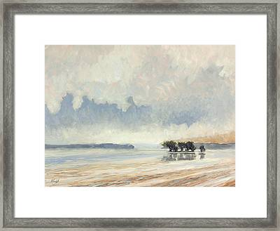 Fog Between The Storms Framed Print by Anthony Sell