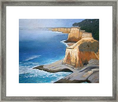 Framed Print featuring the painting Fog Burning Off by Gary Coleman