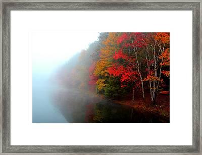 Clearing Fog Framed Print