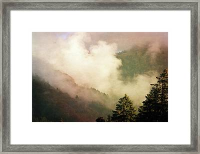 Fog Competes With Sun Framed Print