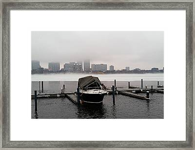 Fog Cover On The Charles River Framed Print by Toby McGuire