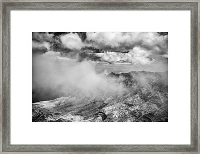 Fog In The Canyon Framed Print