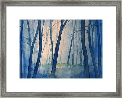 Fog In The Forest Framed Print by Alessandro Andreuccetti