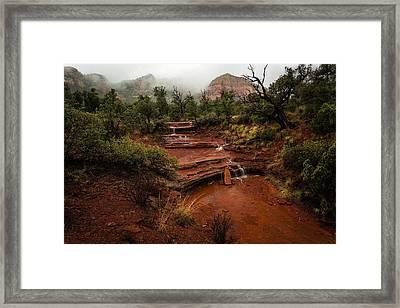 Fog In The Mountains Framed Print