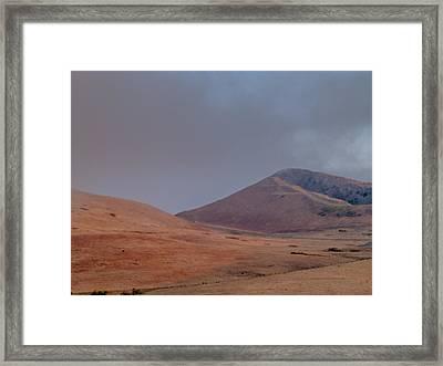 Fog In The Solano Hills Framed Print