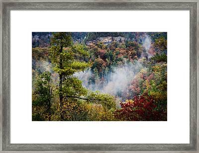 Fog In The Valley Framed Print