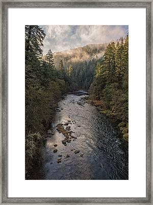 Fog Lifting Framed Print by Loree Johnson
