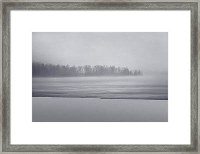 Fog Light Framed Print
