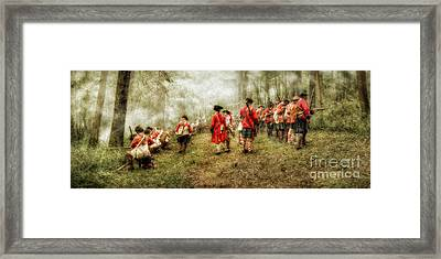 Fog Of War Battle Scene Framed Print