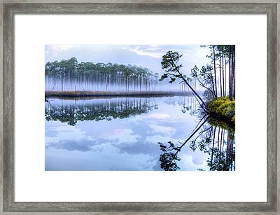 Fog On New River Framed Print by JC Findley