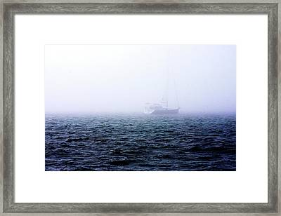 Fog On The Bay 1 Framed Print by Alan Hausenflock