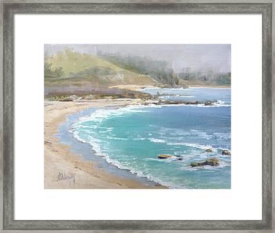 Fog On The Coast Framed Print by Sharon Weaver