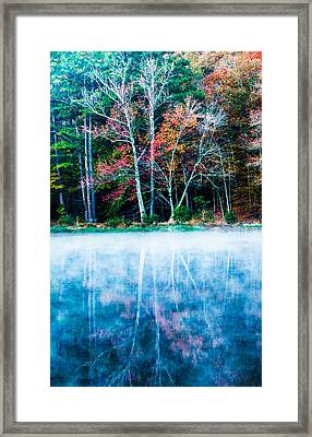 Fog On The Lake Framed Print by Parker Cunningham