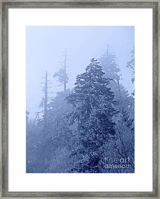 Framed Print featuring the photograph Fog On The Mountain by John Stephens