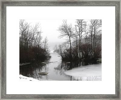 Fog On The Ponagansett Framed Print
