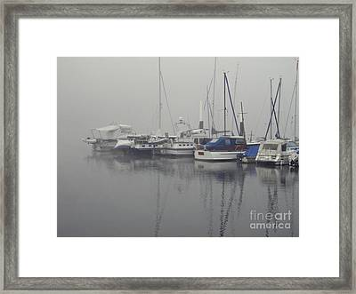 Fog On The Rhine Framed Print