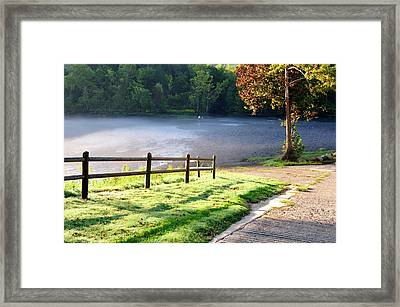 Fog On The River Framed Print by Betty LaRue
